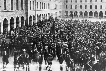 Revolution in Stuttgart 1918 (Quelle: LMZ)