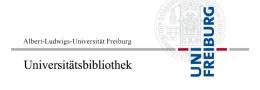 Logo der Universitätsbibliothek Freiburg