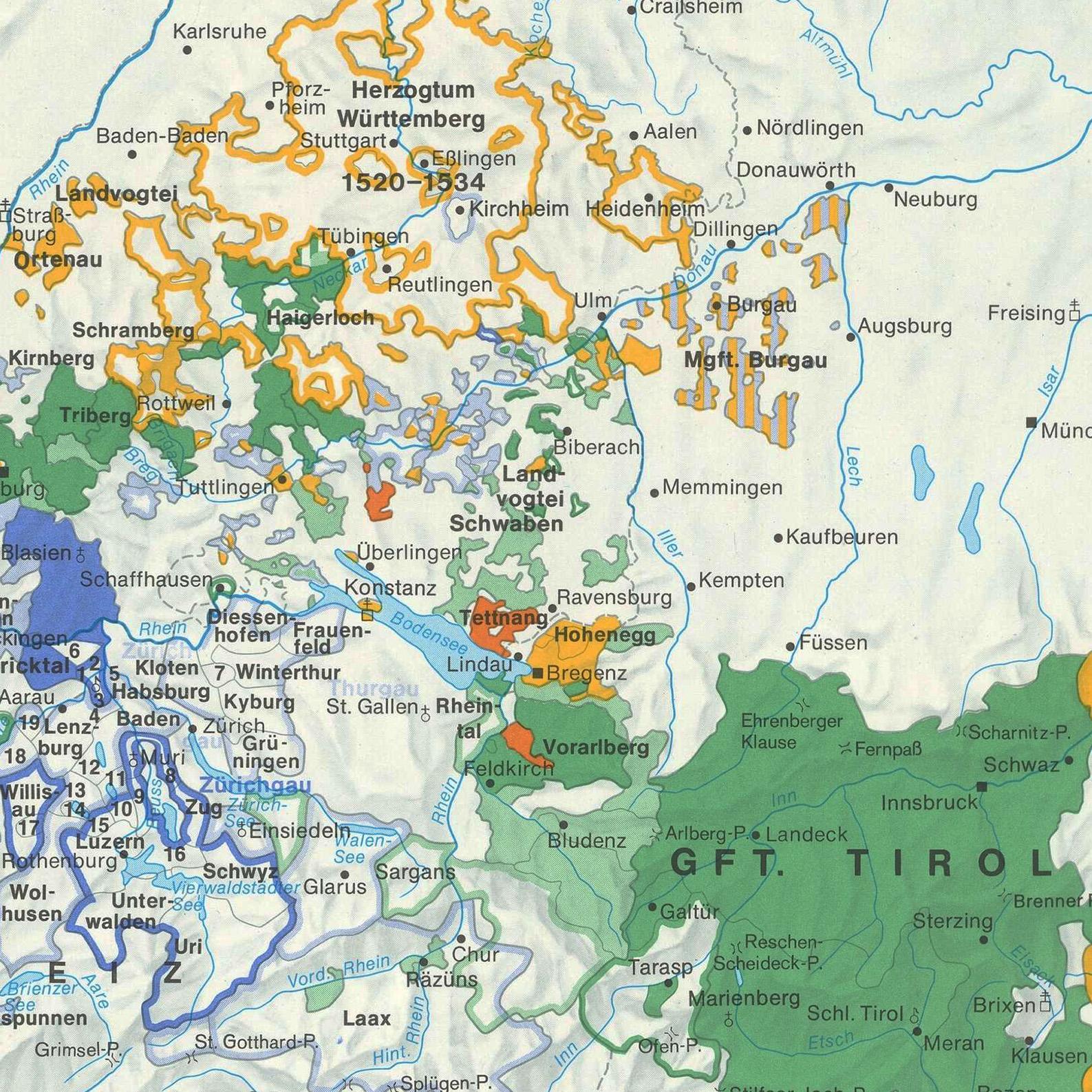 Alte Karte Deutschland 1940.Historischer Atlas Von Baden Württemberg Leo Bw