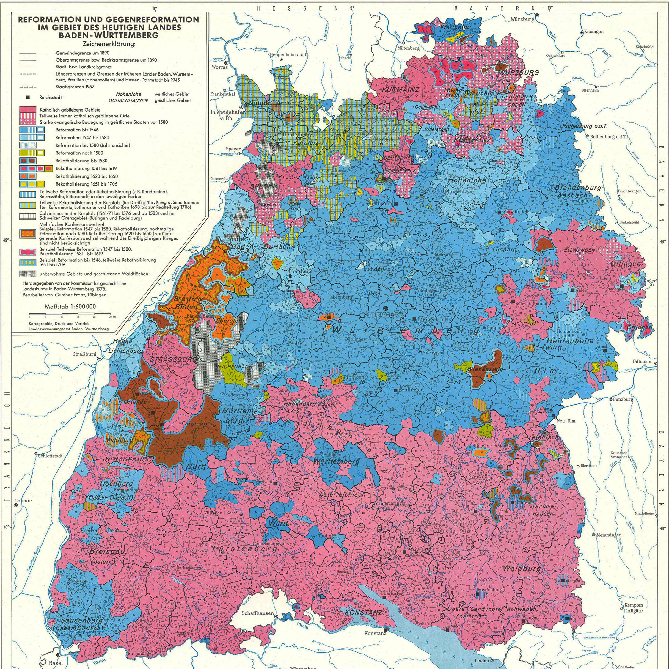 Karte Schwarzwald Zum Ausdrucken.Historischer Atlas Von Baden Württemberg Leo Bw