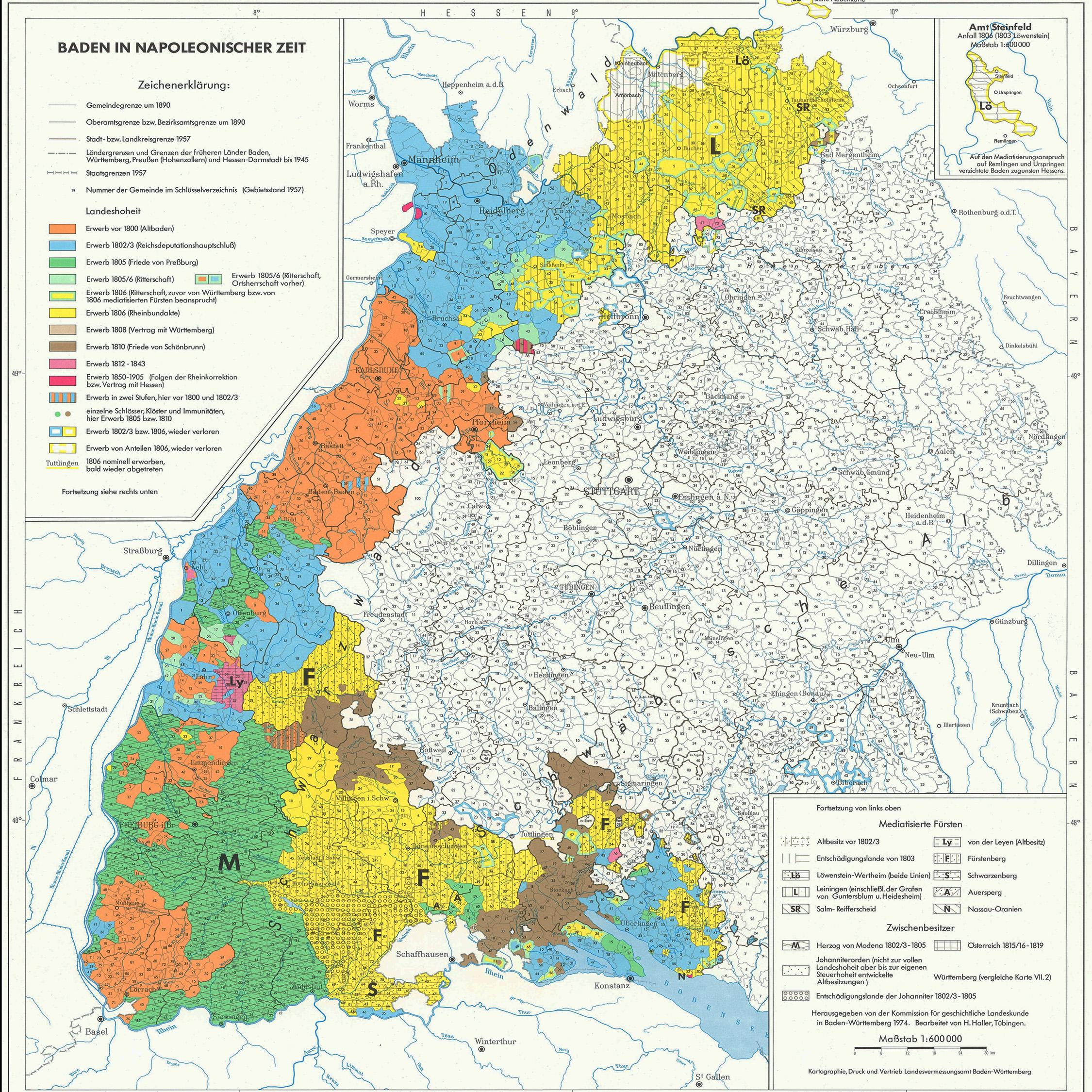 karte baden Historischer Atlas von Baden Württemberg   LEO BW