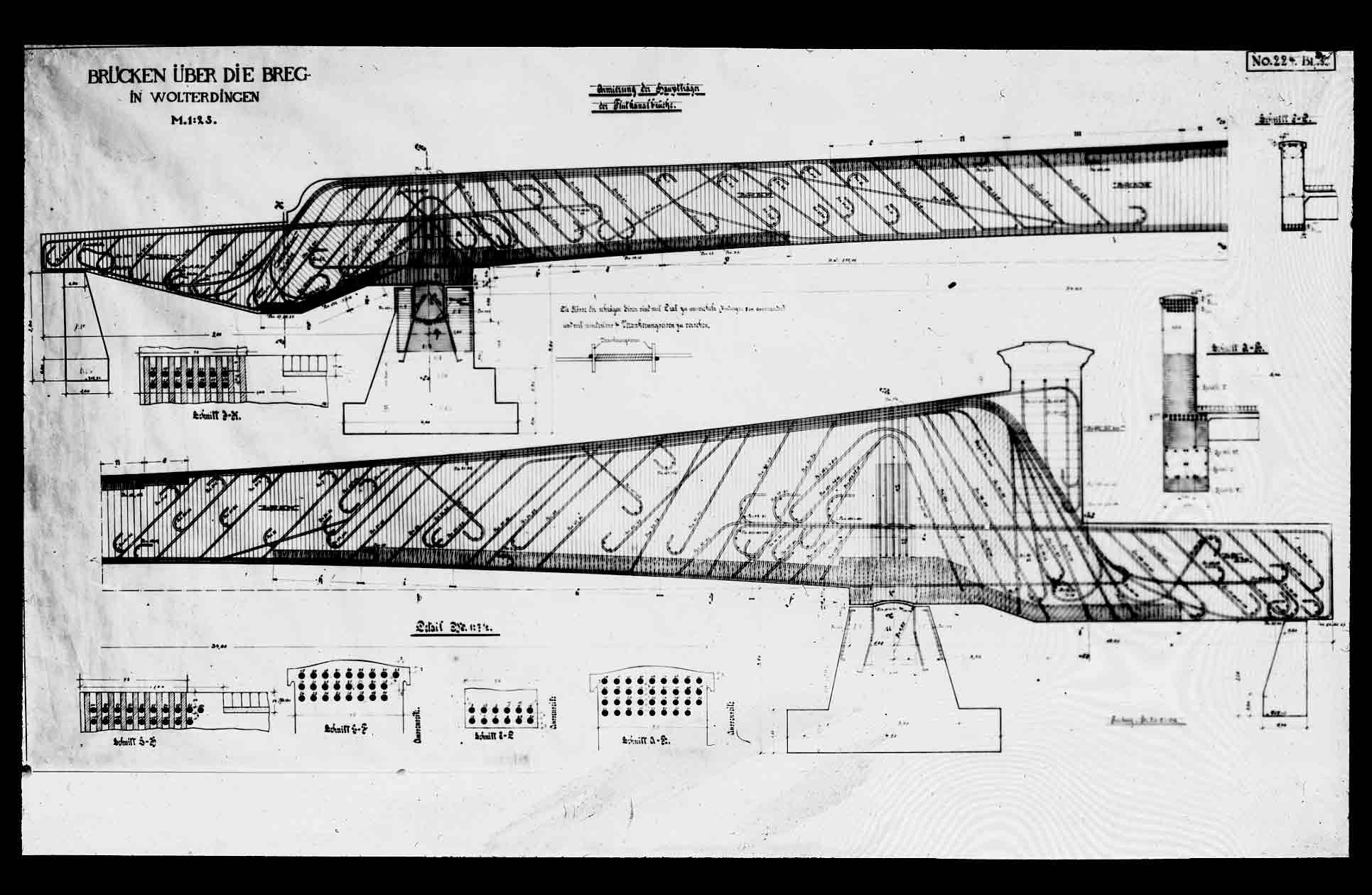 Brücke in Wolterdingen Konstruktionszeichnung - Detailseite - LEO-BW