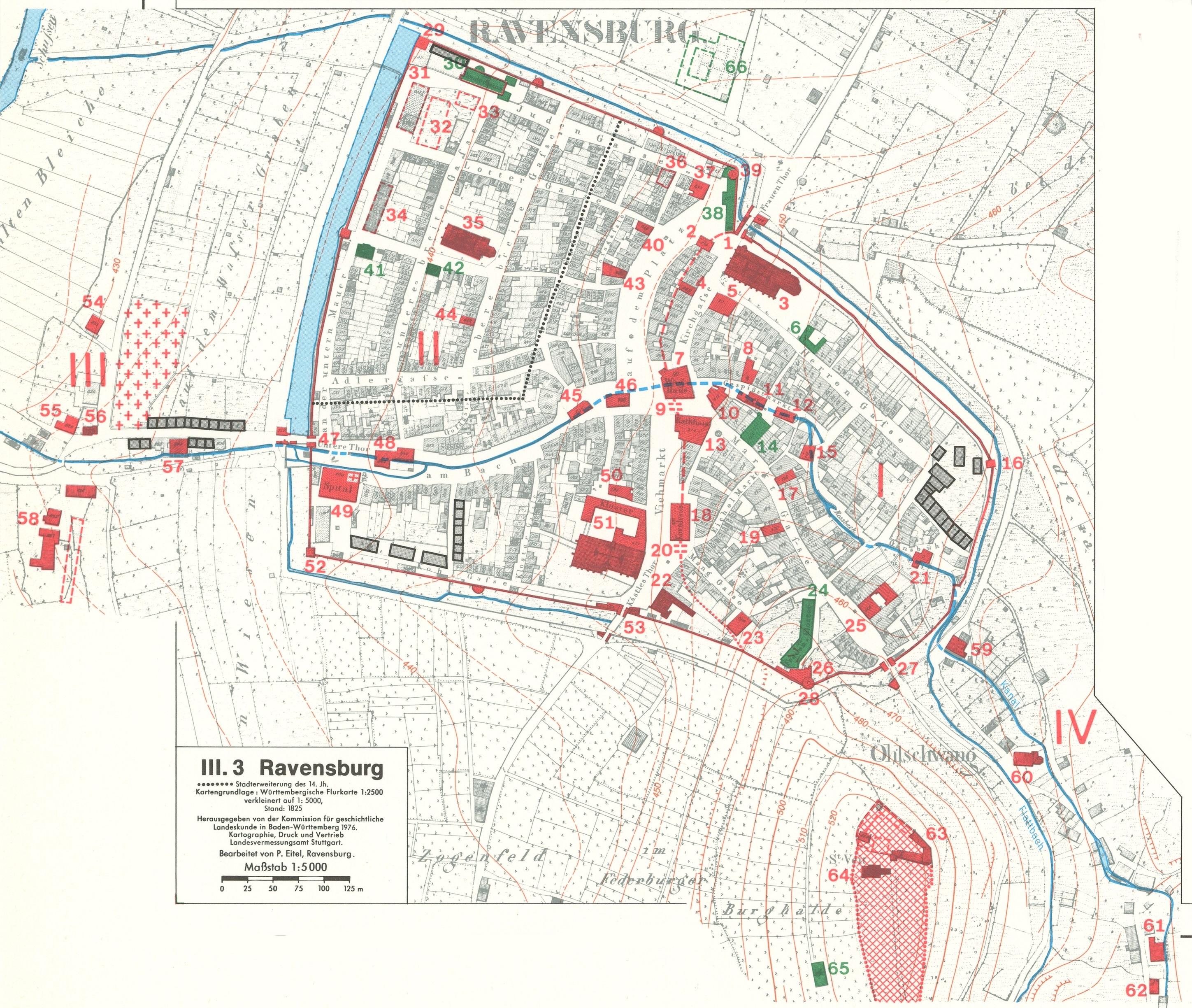 Grundrisse Mittelalterlicher Stadte Iii Ravensburg Detailseite