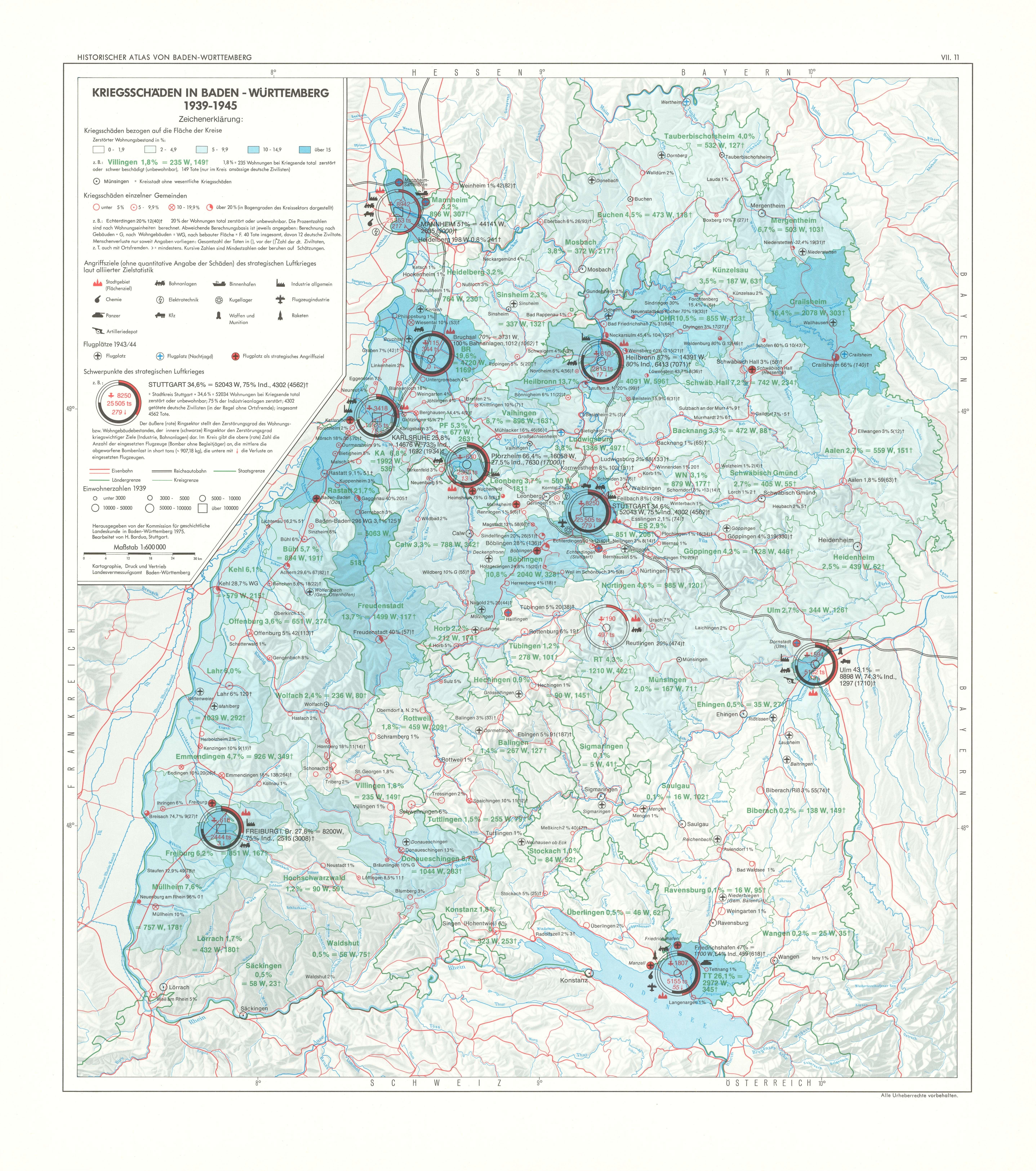 Schlachtfelder Des 2 Weltkriegs Karte.Kriegsschaden In Baden Wurttemberg 1939 1945 Detailseite