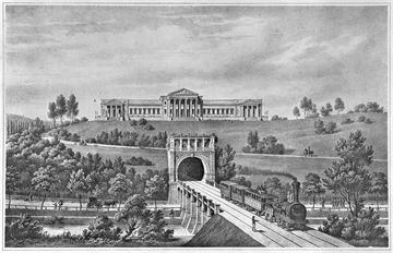 Stuttgart: Schloss Rosenstein, Lithografie/Variante, um 1850 [Quelle: Landesmedienzentrum Baden-Württemberg]