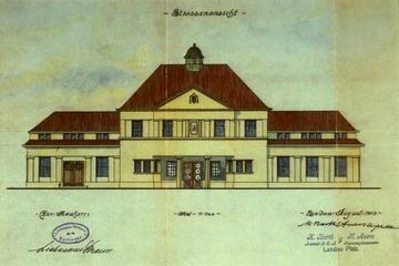 Plan der Matzenfabrik Strauss in Neureut Aug. 1913
