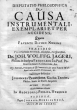 Disputatio Philosophica De Causa Instrumentali, Exemplari Et Per Accidens