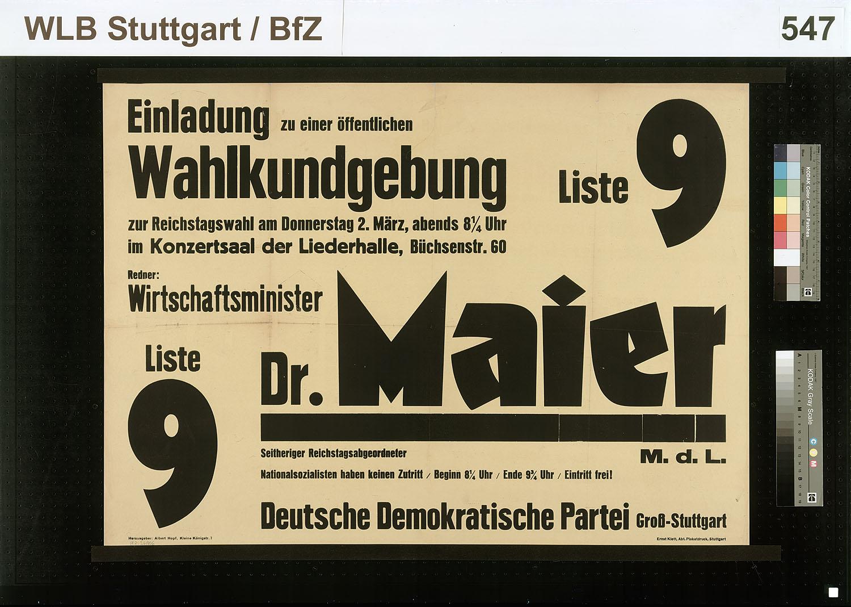 Maier Reinhold - Detailseite - LEO-BW